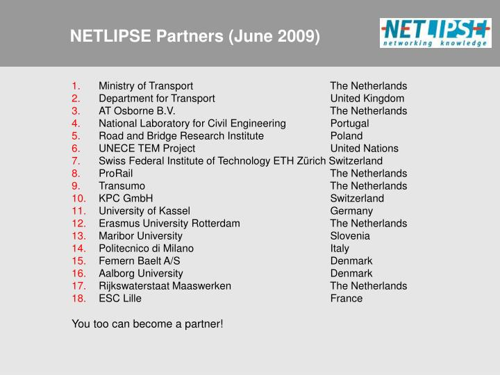 NETLIPSE Partners (June 2009)