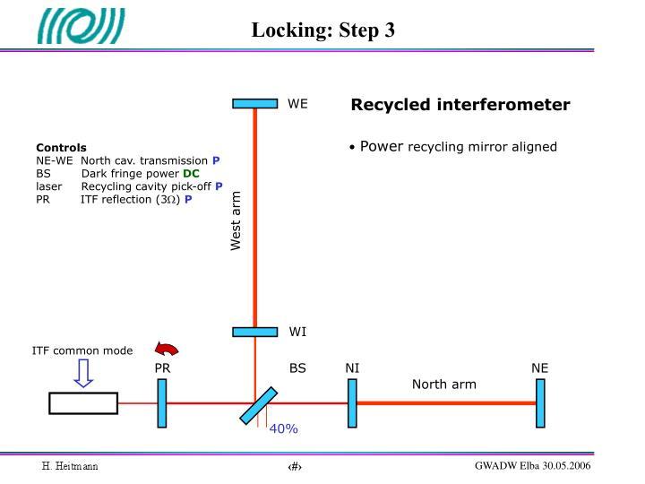 Locking: Step 3
