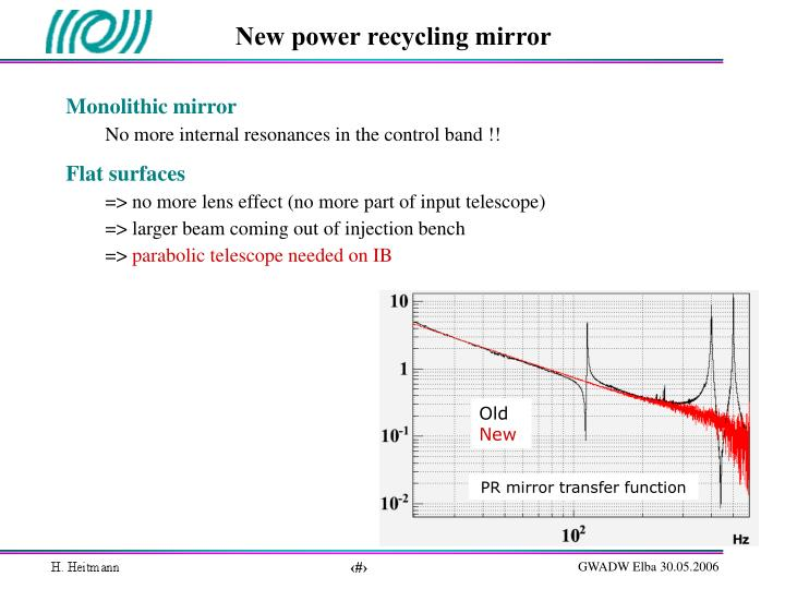 New power recycling mirror