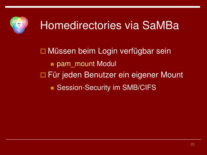 Homedirectories via SaMBa