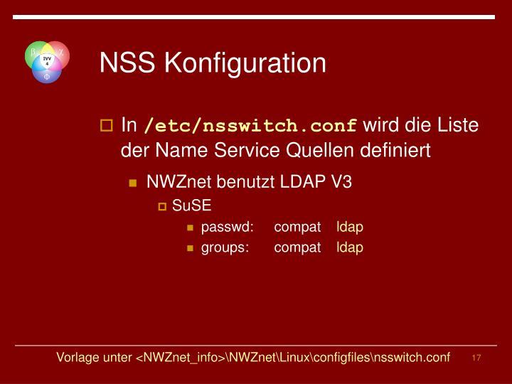 NSS Konfiguration