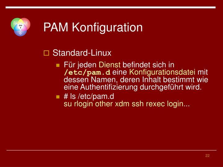 PAM Konfiguration