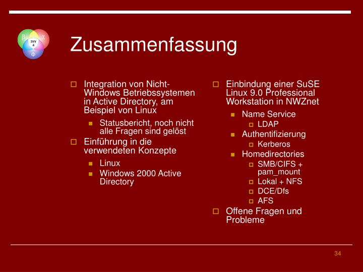 Integration von Nicht-Windows Betriebssystemen in Active Directory, am Beispiel von Linux