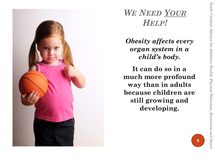 Obesity affects every organ system in a child's body.