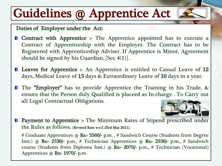 Guidelines @ Apprentice Act