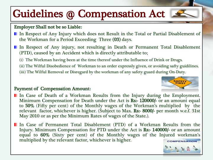 Guidelines @ Compensation Act