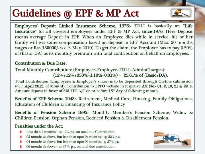 Guidelines @ EPF & MP Act