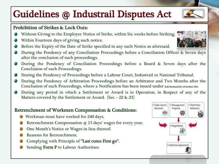 Guidelines @ Industrail Disputes Act