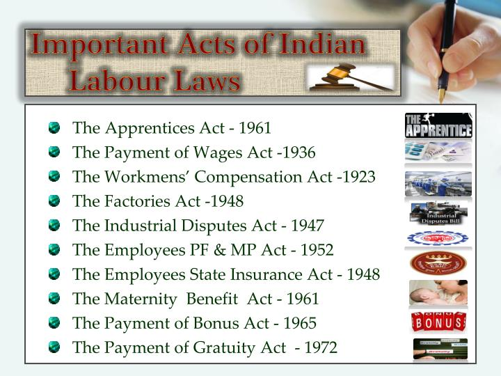 Important Acts of Indian Labour Laws
