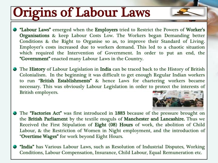 Origins of Labour Laws