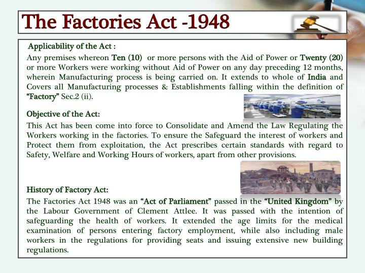 The Factories Act -1948