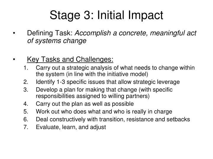 Stage 3: Initial Impact