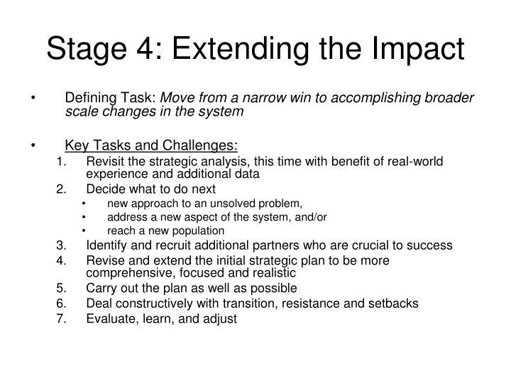Stage 4: Extending the Impact