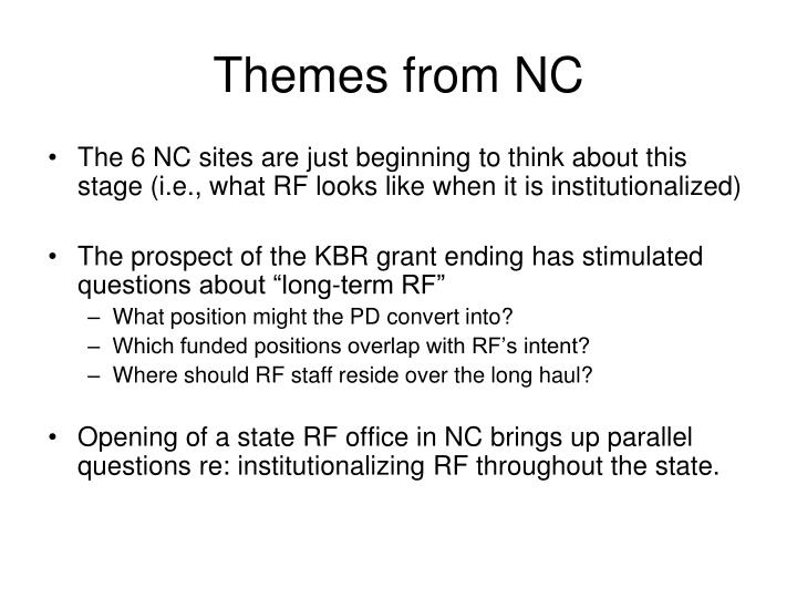 Themes from NC