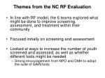 themes from the nc rf evaluation