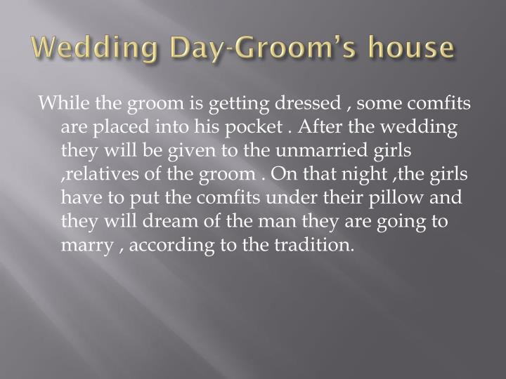 Wedding Day-Groom's house