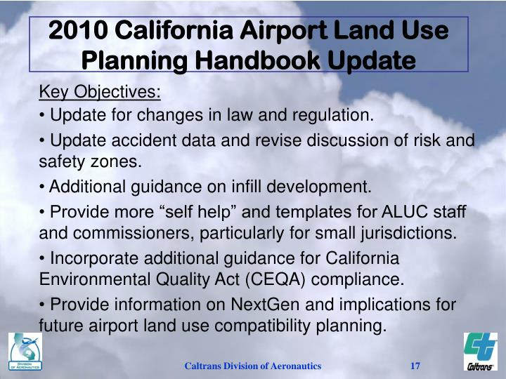 2010 California Airport Land Use Planning Handbook Update