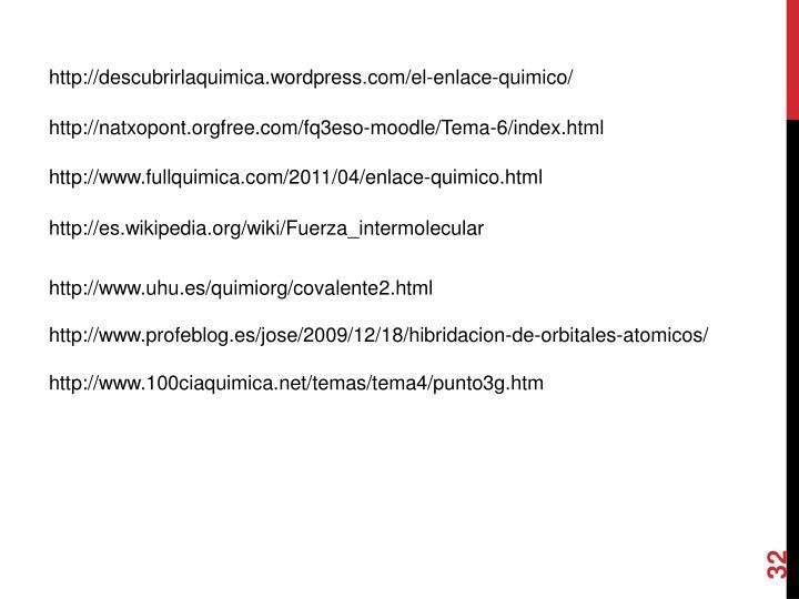 http://descubrirlaquimica.wordpress.com/el-enlace-quimico/