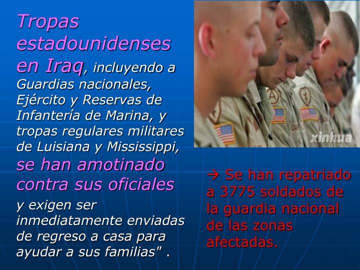 Tropas estadounidenses en Iraq