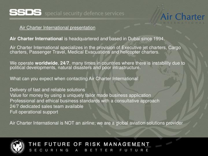 Air Charter International presentation