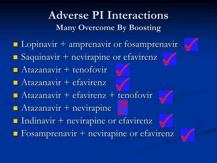Adverse PI Interactions