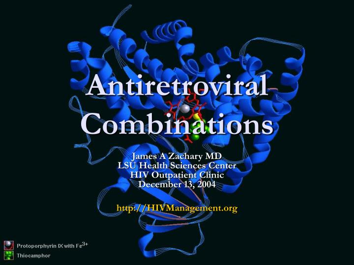 Antiretroviral combinations