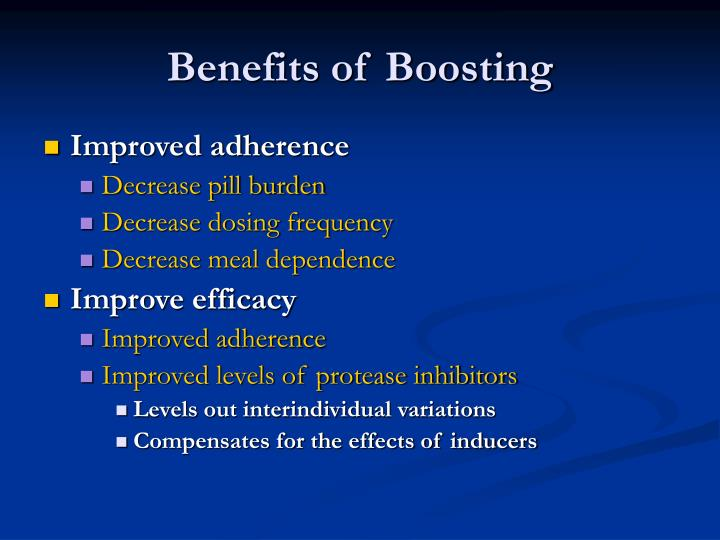 Benefits of boosting