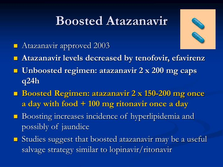 Boosted Atazanavir