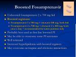 boosted fosamprenavir
