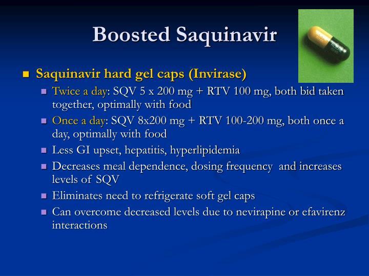 Boosted Saquinavir