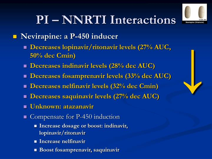 PI – NNRTI Interactions