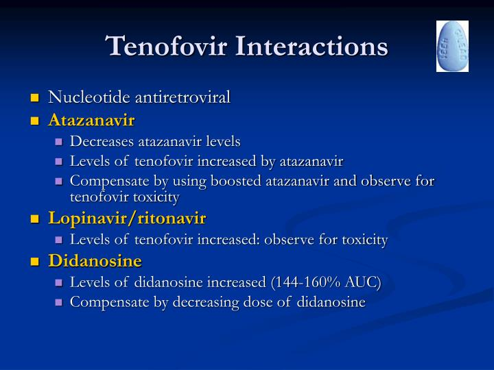 Tenofovir Interactions