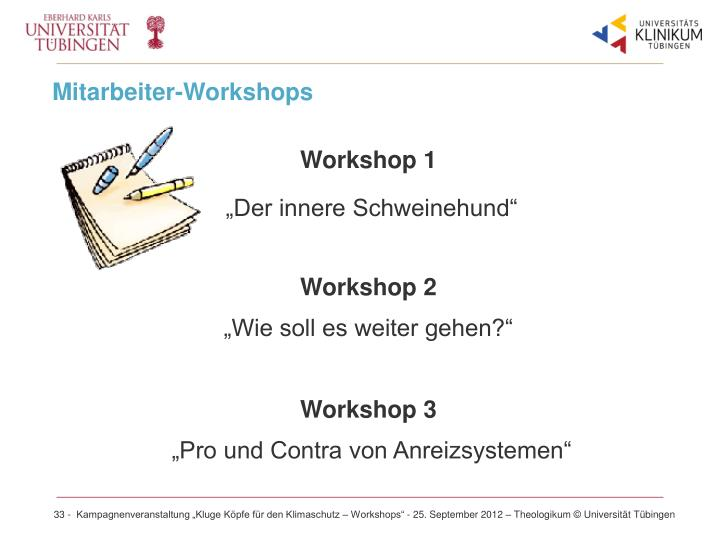 Mitarbeiter-Workshops