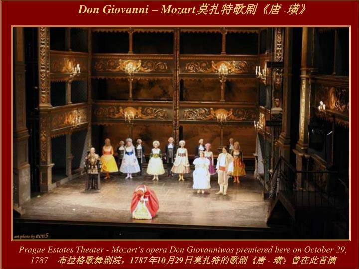 Don Giovanni  Mozart