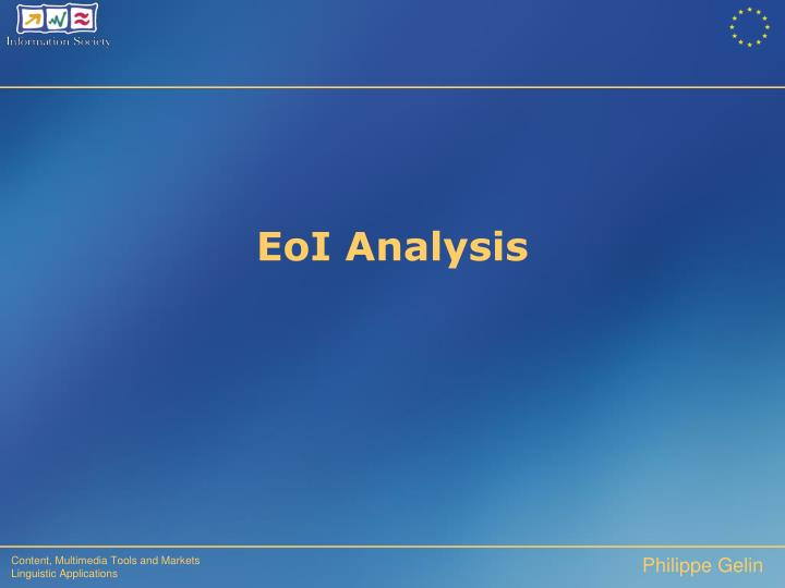 EoI Analysis