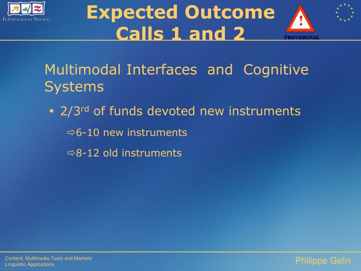 Multimodal Interfaces  and  Cognitive Systems