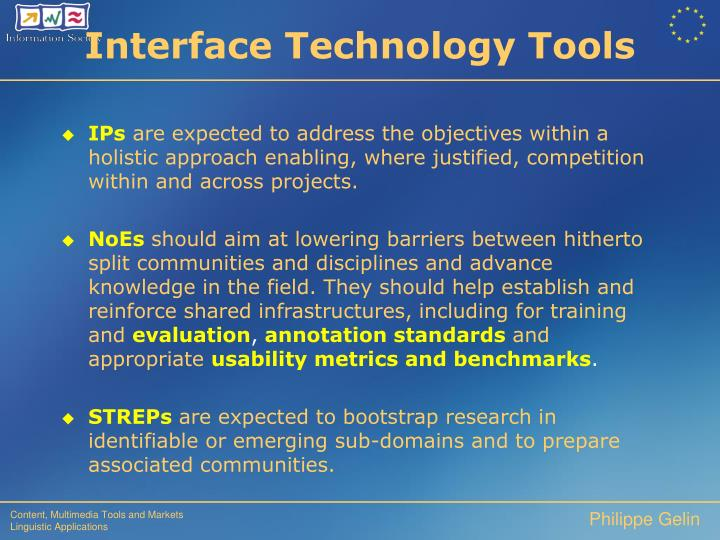 Interface Technology Tools