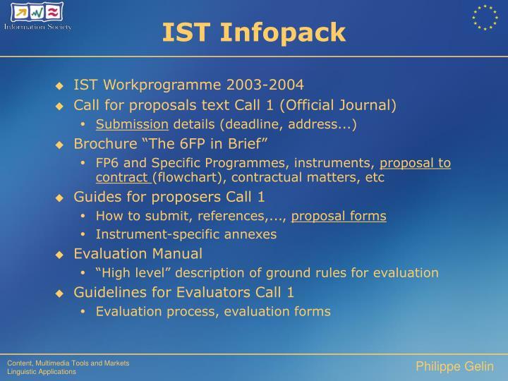 IST Infopack