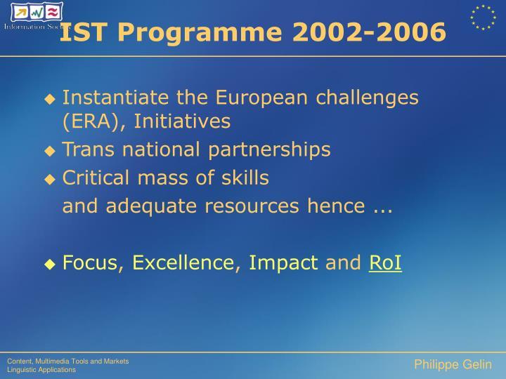 IST Programme 2002-2006