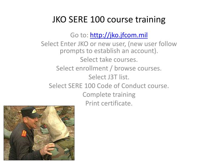 Jko sere 100 course training