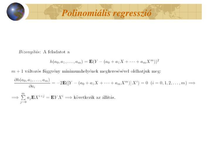 Polinomiális regresszió