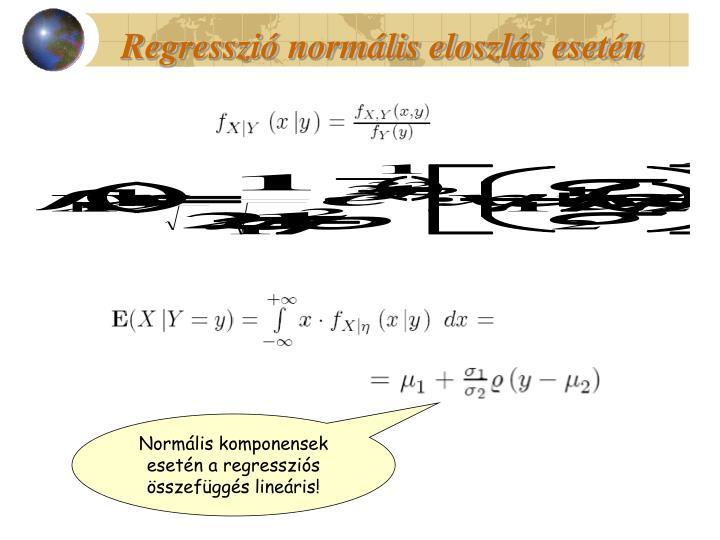 Regresszió normális eloszlás esetén