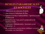 ecoles paramedicales et sociales