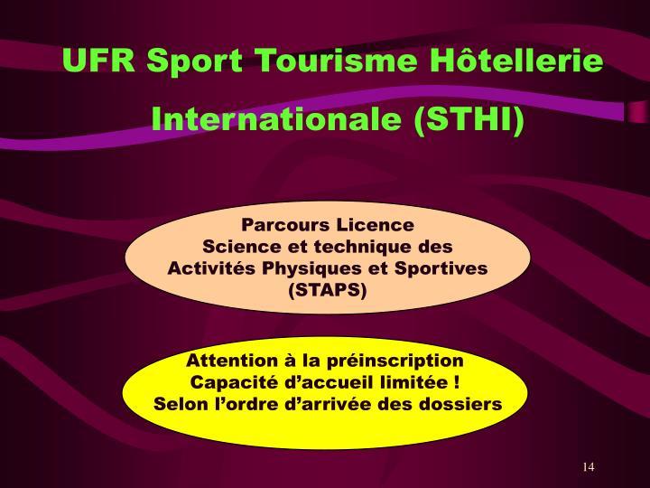 UFR Sport Tourisme Hôtellerie