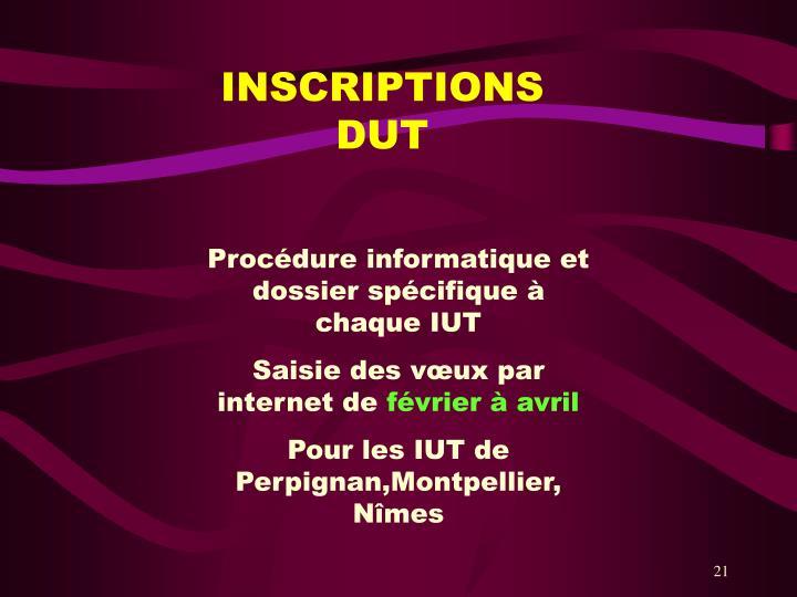 INSCRIPTIONS