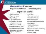 generation x 1961 1981