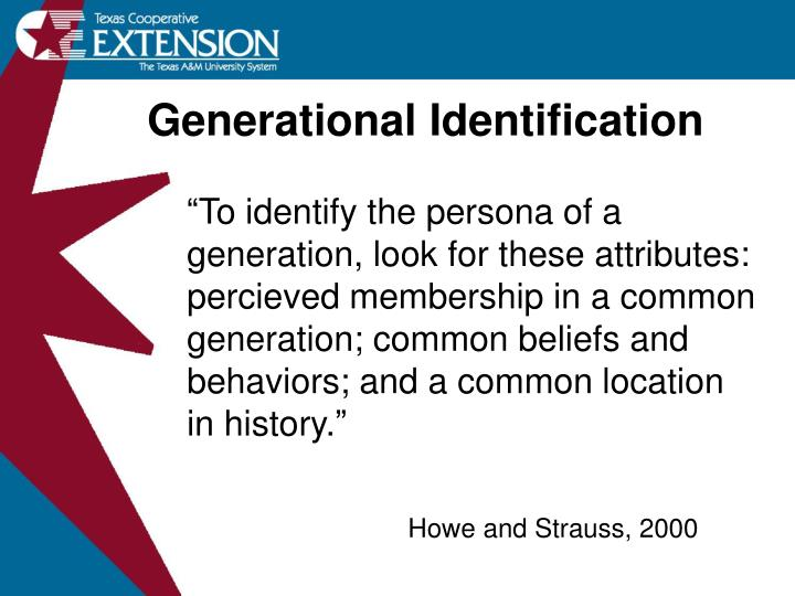 Generational Identification
