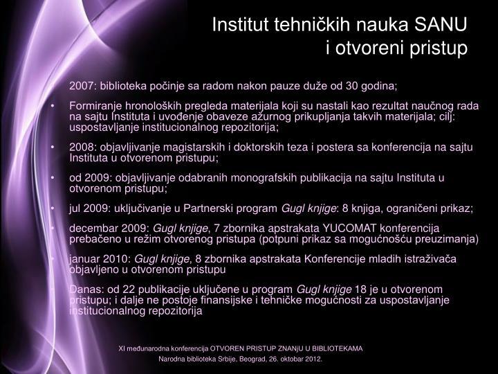 Institut tehničkih nauka SANU