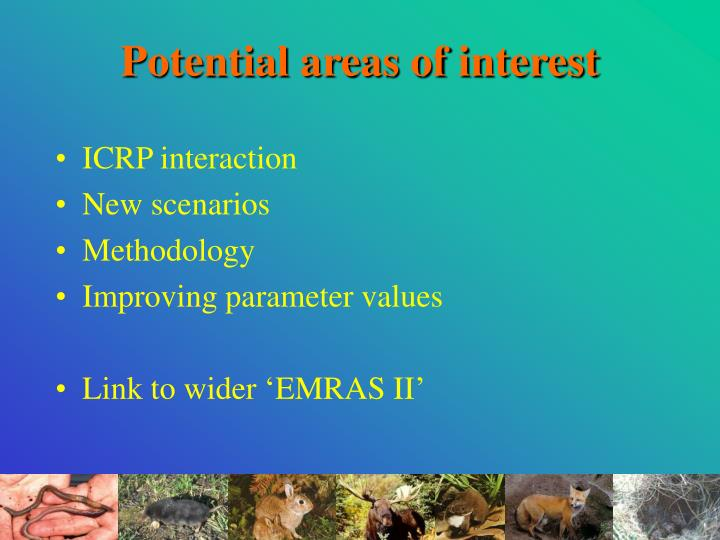 Potential areas of interest