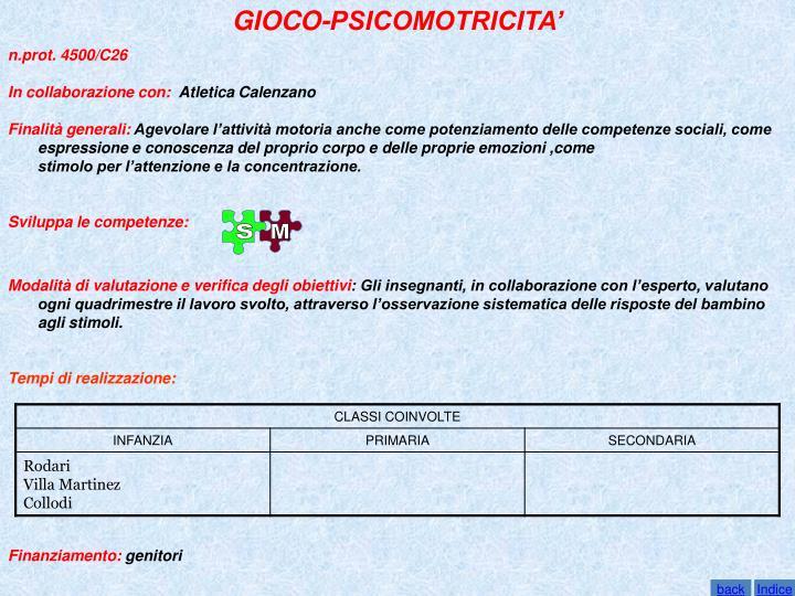 GIOCO-PSICOMOTRICITA'